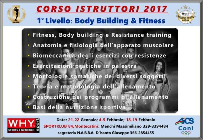 Corso Istrutturi 2017: sede Palestra Sportklub 84 Montecatini