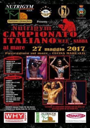 Campionato Italiano NABBA-WFF, passeggiata sul mare - Cecina Mare (LI)